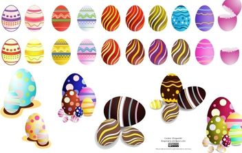 Easter Eggs Set2 Vector - Kostenloses vector #171091