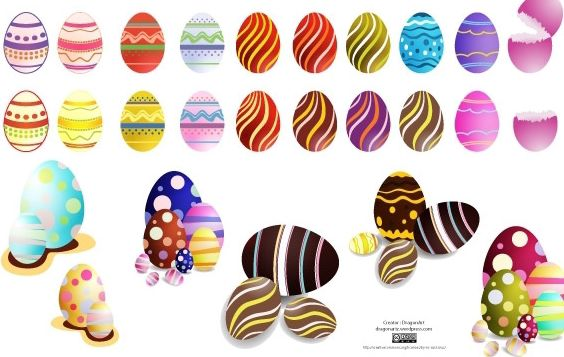 Easter Eggs Set2 Vector - Free vector #171091