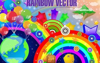 Rainbow Vector - Kostenloses vector #171181