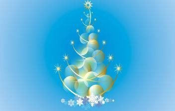 Abstract Christmas Tree Vector - vector gratuit #171191