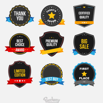 Creative Sales Badge Set Ribbons - vector #171481 gratis