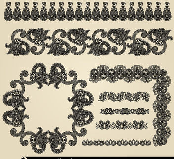 Hand Drawn Vintage Border Ornaments - Free vector #171491