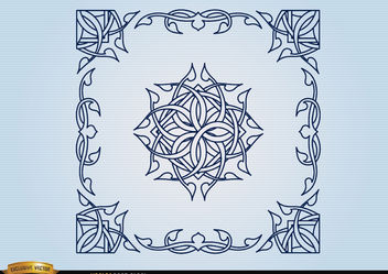 Celtic decorative borders - Free vector #171651