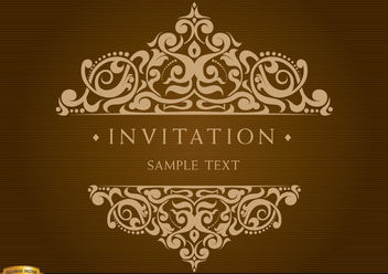 Invitation Card with Decorated Text - vector gratuit #171691