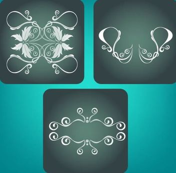 3 Classic Ornaments - vector #171701 gratis