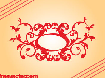 Retro Decorative Floral Scroll - Kostenloses vector #171761