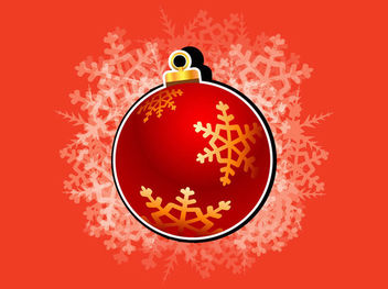 Christmas Ornament Ball with Snowflakes - Free vector #171831