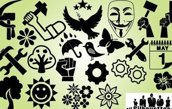Symbol Pack International Labor Day - Free vector #171871