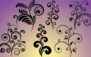 Set of Flourish Curves & Curls - vector gratuit #171901