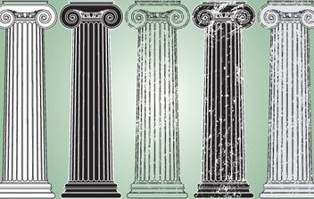 Grungy Vintage Pillar Pack - Free vector #172061