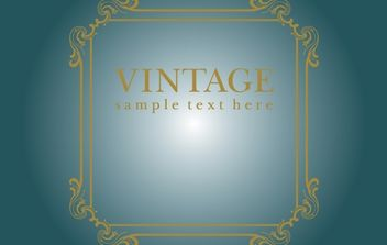 Vintage Decorative Border Template - Free vector #172091