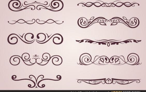 Original Flourish Swirls Ornaments - Kostenloses vector #172181