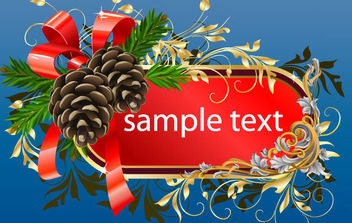 FREE CHRISTMAS FRAME TEMPLATE - Free vector #172241