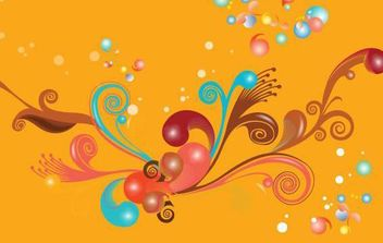 Colorful Swirls Vector Illustration - vector gratuit #172341