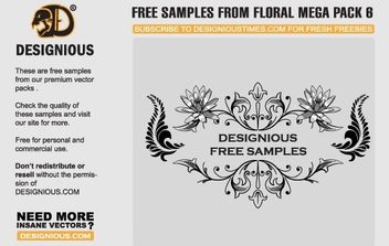 Free floral vector samples - vector gratuit #172651