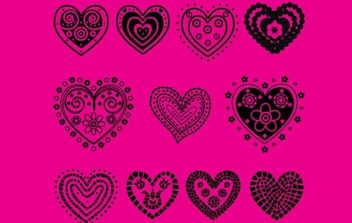 Hearts - бесплатный vector #172751