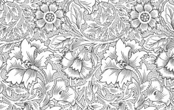 Ornate flower pattern - Free vector #172761