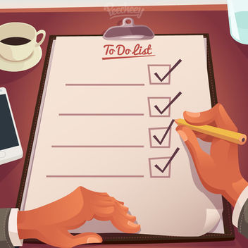 To Do List on Hardboard - бесплатный vector #173001