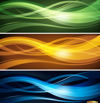 Wavy lines headers set - vector gratuit #173121