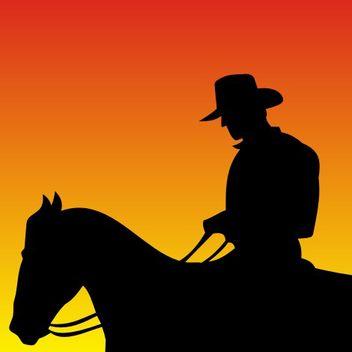 Cowboy vector - Free vector #173331