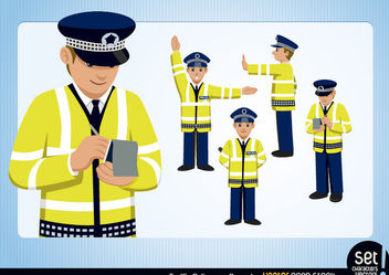 Traffic Policeman Set - Free vector #173431