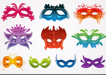 Carnival Mask Set - vector gratuit #173481