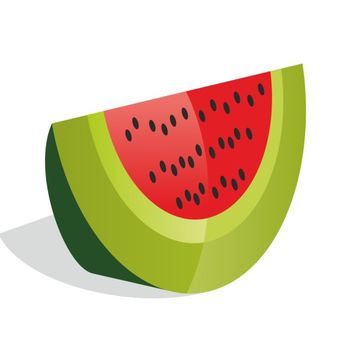 Watermelon vector - vector #173531 gratis