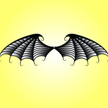 Black & White Bat Wings - vector gratuit #173571