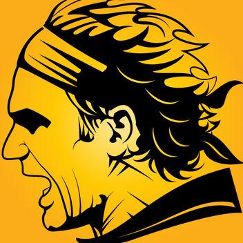 Roger Federer Silhouette Head - vector gratuit #173581