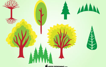 Funky Mixed Tree Pack - Kostenloses vector #173641