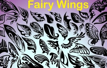 Fairy Wings Pack - vector gratuit #173751