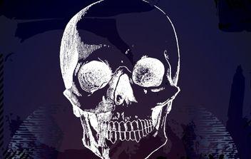Horror Artistic Grungy Skull - бесплатный vector #173851