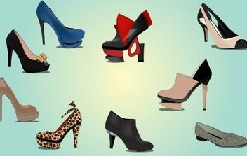 Fashionable Ladies Shoe Pack - Free vector #173891