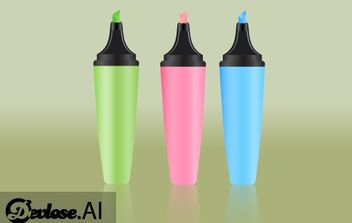 Color Marker Pen Pack - Free vector #173901