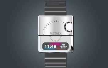 Fashionable Digital Hand Watch - бесплатный vector #174051
