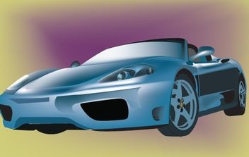 Ferrari Blue Sports Car - Free vector #174101