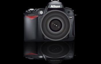 Camera Nikon D90 Realistic - Kostenloses vector #174111