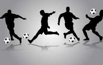 Players Performing with Football - vector gratuit #174141