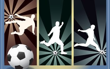 Football Kick Pack Silhouette - Free vector #174151