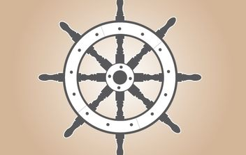 Gray Ship Wheel - vector gratuit #174191