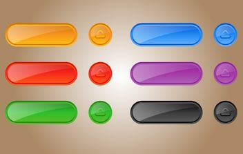 Glossy Template Button Pack - Free vector #174251
