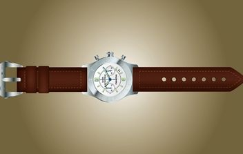 Vector Photorealistic Hand Watch - vector #174351 gratis
