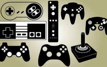 Game Controller Set Vector - vector gratuit #174381
