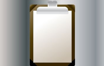 Vector Clipboard Illustration - Free vector #174401