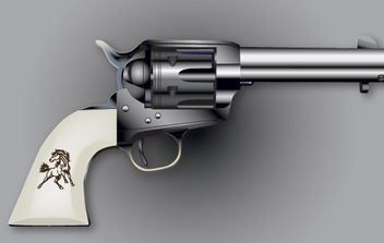 Colt Six Shooter Vector - Free vector #174421