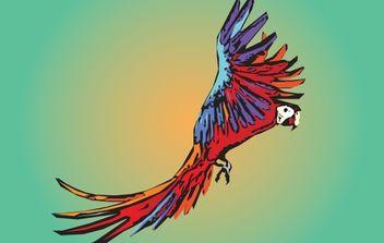 Vector Artistic Guacamaya Bird - Free vector #174451