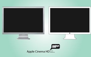 Apple HD Display Vector - Free vector #174501