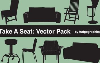 Silhouette Vector Seating Objects - Free vector #174541