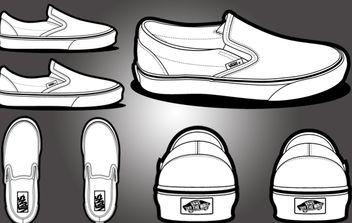Vans Classic Template Shoe - Free vector #174561