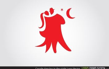 Couple Dancing Logo - vector gratuit #174621